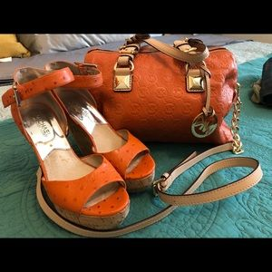 Michael Kors Purse and Shoes(7.5)